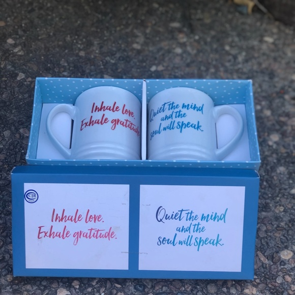 Other - Gratitude Positive Thoughts Coffee Mugs New